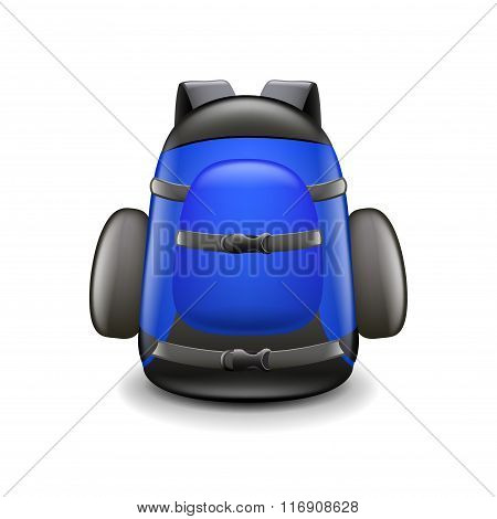 Backpack Isolated On White Vector
