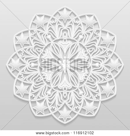 Vector seamless black and white background texture.