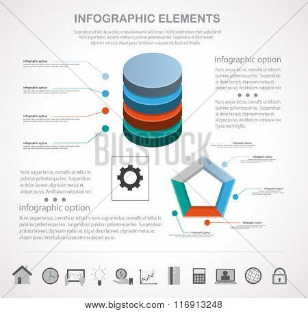Business Infographics With Icons