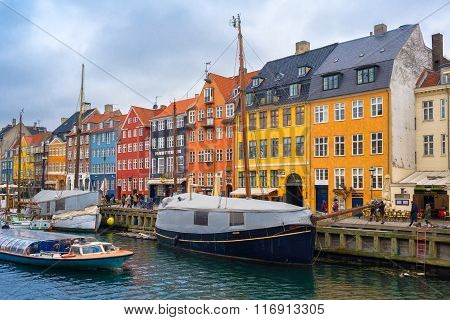 Copenhagen Nyhavn Canal And District
