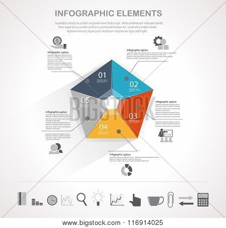 Business Chart And Infographic Icons Set