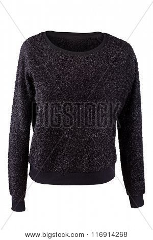 Black woman's sweater isolated on white