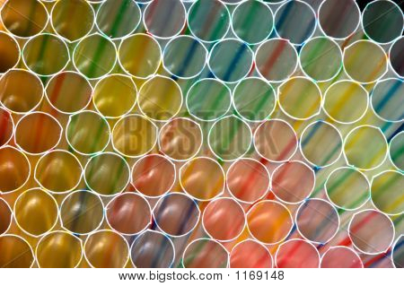 Colored Straws Grouped Together