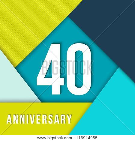 40 Year Anniversary Material Design Template