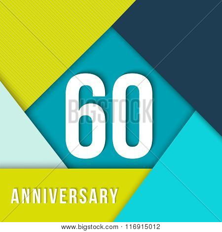 60 Year Anniversary Material Design Template
