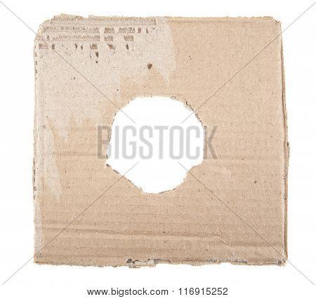 Ripped Hole In Cardboard
