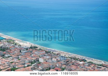 View Of The Beach Of Scilla, Calabria, Italy