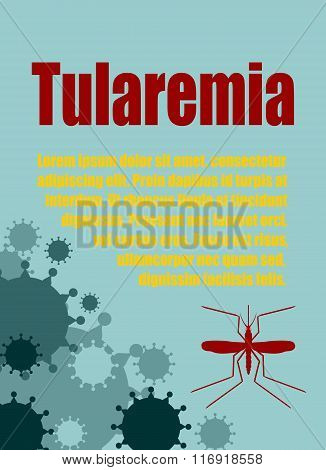 Vector Brochure, Report Or Flyer Design Template. Tularemia Relative