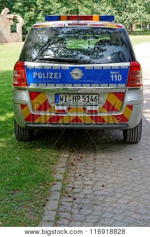 A German Federal Police Car
