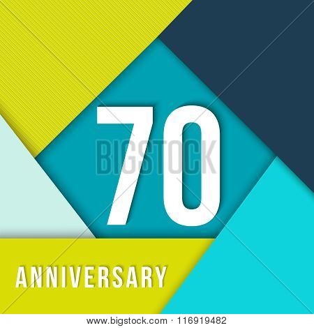 70 Year Anniversary Material Design Template