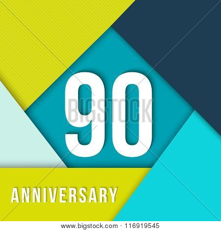 90 Year Anniversary Material Design Template