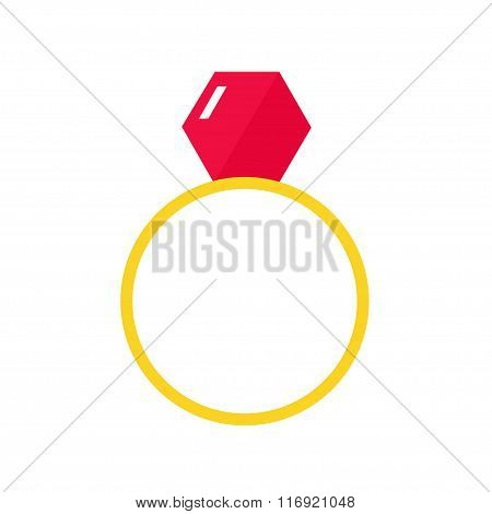 Ring isolated icon on white background.
