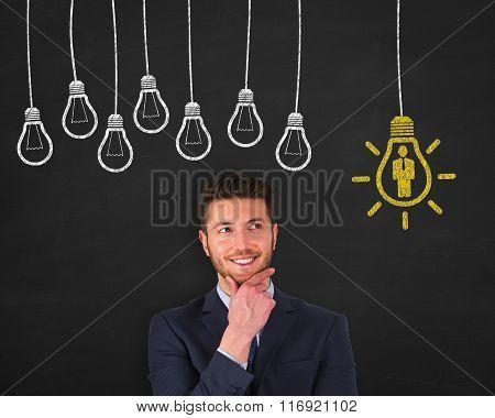 Human Resource Bulb on Blackboard