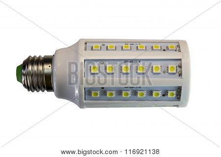 LED lamp isolated on a white background with clipping path