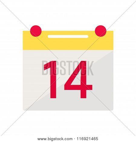 Valentine day calendar icon.