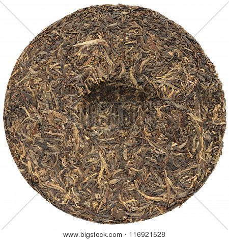 Sheng Puerh Cake Isolated