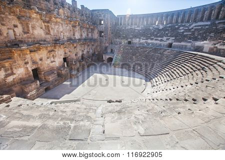 Roman amphitheater of Aspendos, Belkiz, Antalya, Turkey