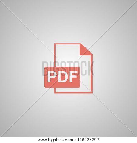 Pdf Icon. Flat Design Style.