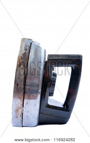 Old Iron Isolated On White Background