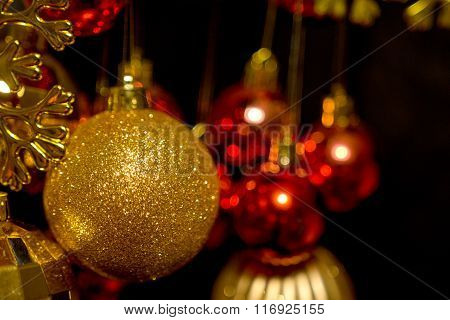 Christmas Tree Toy Of Gold Color
