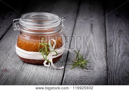 Natural diy ginger sugar and salt body scrub