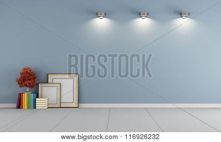 Empty Blue Room