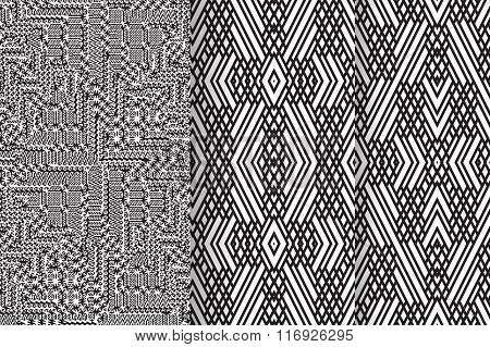 Set of 3 Abstract patterns
