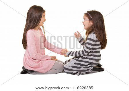 2 sisters or friends playing