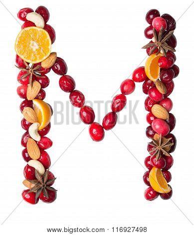 Fruit Letter M