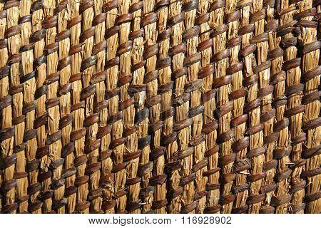 background wicker mat