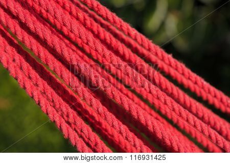 Twisted Red Rope