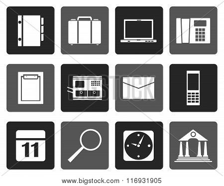 Flat Business, Office and Mobile phone icons