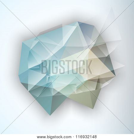 Geometric Triangular Abstract Vector Background.