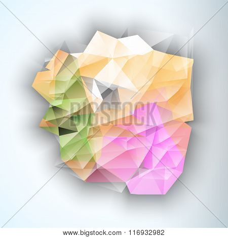 Geometric Triangular Abstract Modern Vector Background.