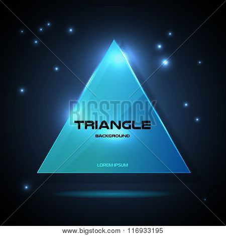 Abstract Hipster Poligon Triangle Background. Neon Triangle Background.