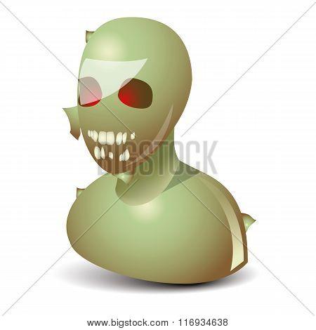 Zombie funny icon