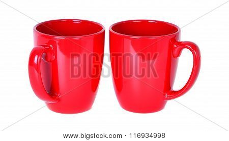 Two Red Mugs