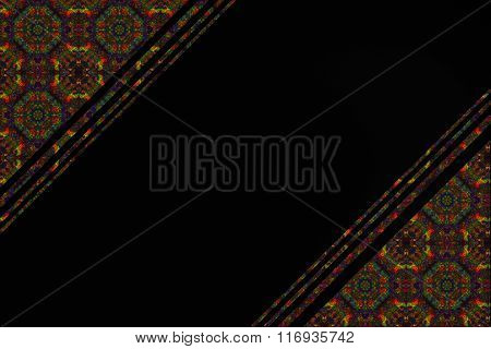 black background with a pattern