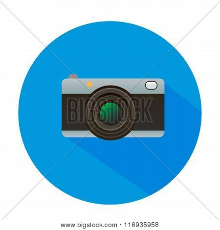 Camera vector icon illustration