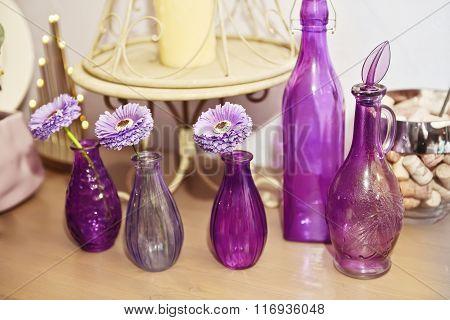 Purple-lavanter Decoration  Bottles