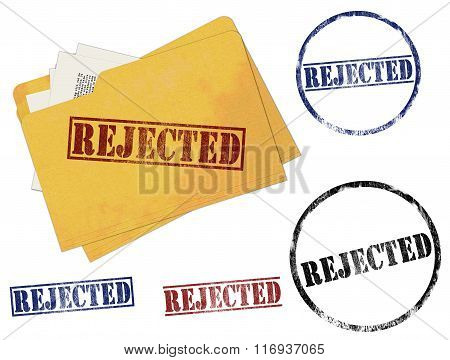 Rejected Rubber Stamp Marks