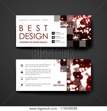 Set of modern design banner template in neon molecule structure style