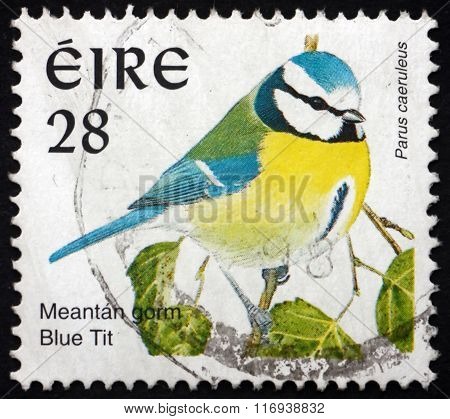 Postage Stamp Ireland 1997 Blue Tit, Bird