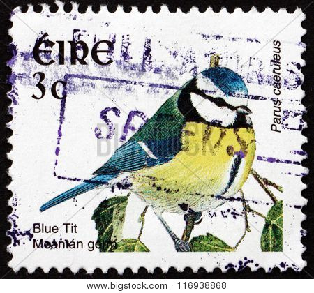 Postage Stamp Ireland 2002 Blue Tit, Bird