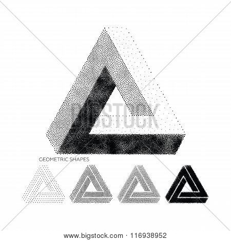 Vector geometric abstract 3D Triangles