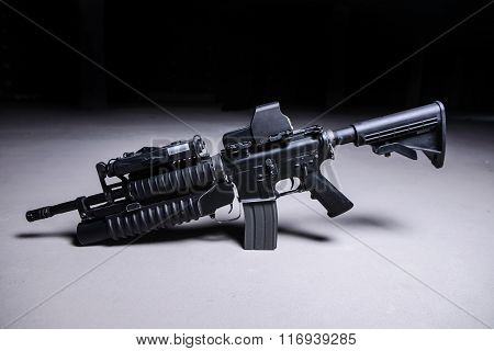 Assault Rifle With Grenade Launcher