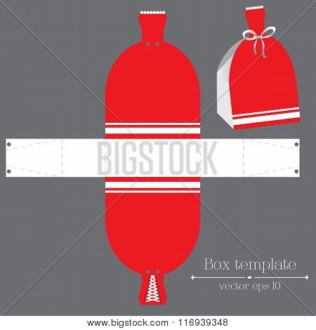 Vector Dress Box Template. Red Glad Rags.