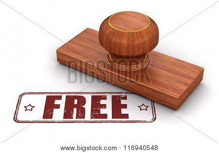 Stamp Free.  Image with clipping path