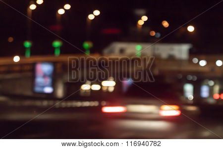 City Night Background With Boke