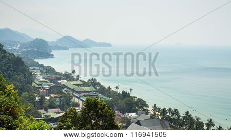 Top view of Koh Chang island, Thailand.